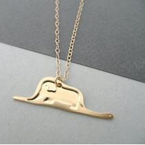 El Principito - Collar Sombrero, Serpiente , Elefante Dorado