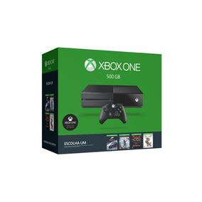 Xbox One 500gb Com 1 Jogo A Escolher 1 Controle Novo Lacrado