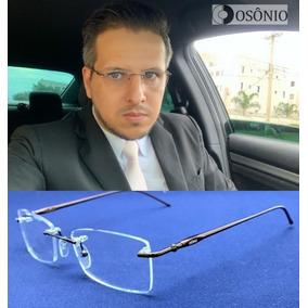 Armacao Oculos De Grau Masculino Titanio Outras Marcas - Óculos ... db00bdbae6