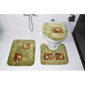 Jogo De Banheiro Royal Luxury Verde Des:102 Marca Rayza