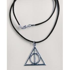 Colar Harry Potter - Relíquias Da Morte - Cor Prata