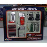 1:18 Set De Taller Garage Kinsfun Diorama