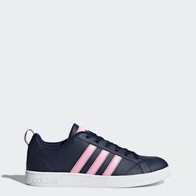Tenis adidas Advantage Azul Con Rosa