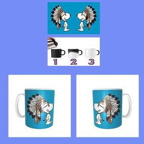Taza Magica Snoopy Apache Penacho