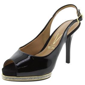 Sapato Feminino Chanel Verniz/preto Vizzano - 1827207
