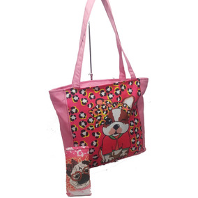 10 Carteras X Mayor Bolso Sublimado Perrito +funda Neoprene