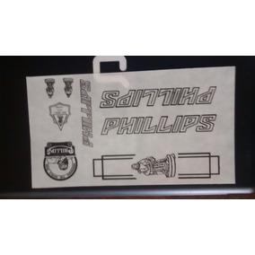 Calcomanias Phillips Letras Negras Para Bicicleta Antigua