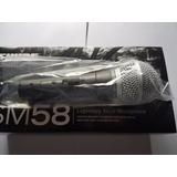 Microfono Shure Sm58 Swich On Off Nuevo.original 100 %