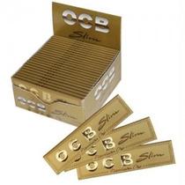 Ocb Slim Premium Oro X 5 Libritos Largos Papelillo Sedas