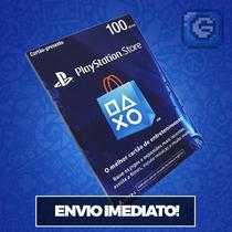 Cartão Psn R$ 100 Reais Brasil - Ps3 / Ps4 - Envio Imediato