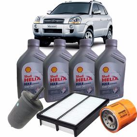 Kit Revisão Oleo Shell 5w30 E Filtros - Hyundai Tucson 2.0