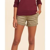 Shorts Customizados Hollister Midi Short Feminino Bermuda