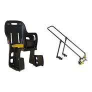 Kit Bagageiro Alumínio Cadeira Infantil Traseira Bicicleta