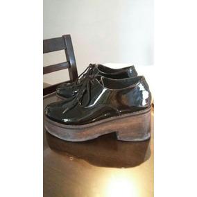 En Charol Usado Mujer Zapatos Mercado Cordones Zapatos Libre qXRInRPdwx
