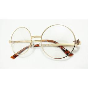 Armacao Oculos Lentes S/ Grau Moda Redondo Feminino Promocao