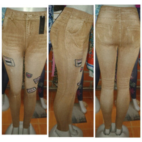 Leguins Jeans Tela Gruesa Monos Pantalones S M L Xl
