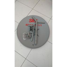 Kit 2 Antenas Ku 60cm + 2 Lnb Duplos+ 2 Kit Cabo