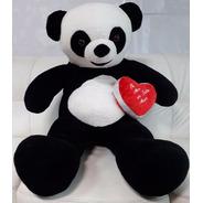 Urso Panda Grande Pelúcia Gigante 120cm + Coração Amor Love
