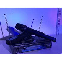 Microfono Inalambrico De Mano Doble Vhf Acustica Vh-202m