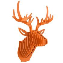 Venado Naranja Cabeza Decorativa Animal Trofeo Valchromat8mm