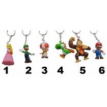 Chaveiro Super Mario Boneco Vários Modelos Donkey Kong Yoshi