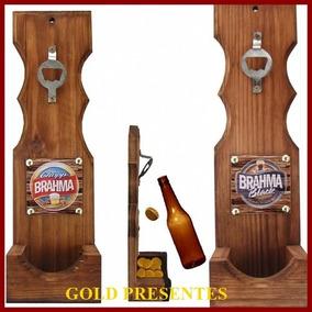 Abridor Garrafas Madeira Parede Gd. Times ,marcas Cerveja