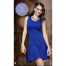 Vestido Cklass Azul Rey Otoño Invieno 2014 Nuevo