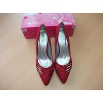 Zapatos Con Tacon Rojos N° 40
