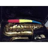 Saxofon Alto Parrot + Boquilla Rico Royal + Colgante Estuche