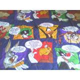 Edredon Infantil De Looney Tunes Acolchado Y Reversible