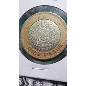 1 Moneda 10 Pesos Año 2007 Grafila Invertida C/envio Incluid