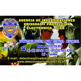 Detectives Pirvados Investigadores Siar- Cali Colombia