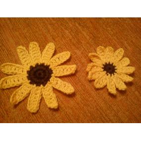Apliques Artesanales Tejidos Al Crochet Para Prendas.