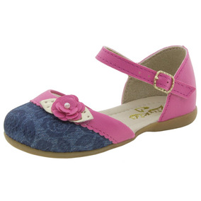 Sapatilha Infantil Feminina Jeans/pink Lily Kids - 20019