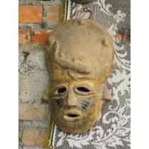 Mascara Grande De Barro Estilo Antiguo.