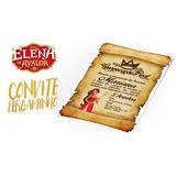Convite Pergaminho Princesa Elena De Avalor - Promoção