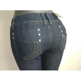 Bello Pantalon Dama Jeans Negro Marca Gusto Talla 8 (28)