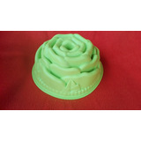 Molde Savarin De Silicon Forma De Rosa Torta Gelatina Repost