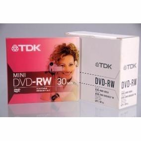 Mini Dvd Rw 30 Min Tdk Regrabable Caja 5 Unidades