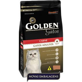 1 Racao 10,1kg Golden Gatos Adultos Carne Frete Gratis