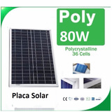 Painel Célula Placa Energia Solar Fotovoltaica 12v 80w Watts