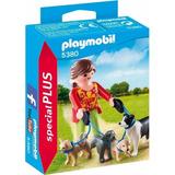 Playmobil 5380 Mujer Con Perros Juguetería El Pehuén