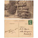 Francia 1916 Postal Viejo Molino De Dauphine