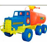 Camion De Bomberos Lanza Agua Gigante Jumbo Bronco Educando
