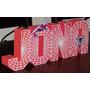 Letras Decorativas 3d Personalizadas Candy Bar Mesa Dulces