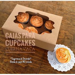 25 Cajas 6 Cupcakes En Kraft (muffins,kekitos, Panquecitos)