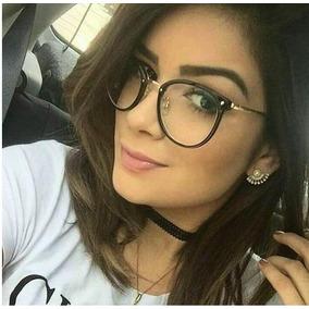 Armacao Oculos Feminino Retro Vintage - Óculos Preto no Mercado ... 3be21d5cf6