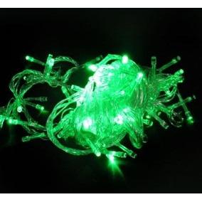 Pisca Verde 100 Lâmpadas Led 8 Funções 110v Fio Transp P13