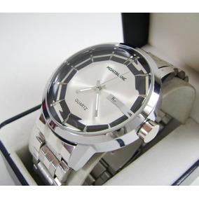 M O N T . B L A N C . Reloj Acero Con Calendario Nuevo Ppb5