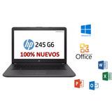 Laptop Hp 245 G6 4gb 500gb Amd 14 Hdmi+win10+office